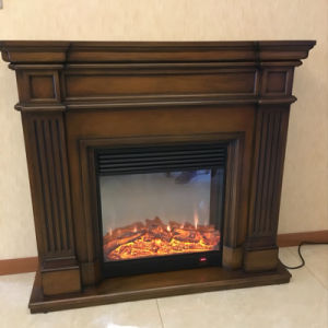 Antique Carved Wooden Electric Fireplace Mantel (GSP15-003) pictures & photos