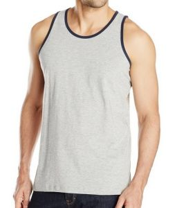 Men Quick Dri Polyester V-Neck Sports Tank Top Athletic Singlet pictures & photos