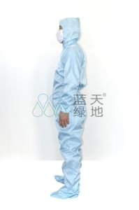 ESD Clothes with Cap-Oblique (left) Opening Design pictures & photos