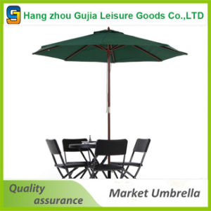 Round Wooden Customized Waterproof Convenient Easy up Market Umbrellas pictures & photos