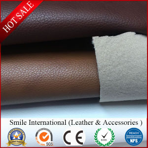 Sofa Leather PVC Leather Softness Stronger Double Brush Backing 1.2mm Wholesales pictures & photos