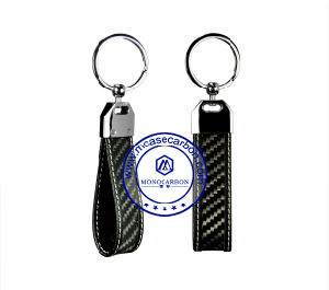 Make Your Own Logo Carbon Fiber Keychain Keyring Accessories for Handbag pictures & photos