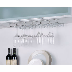 Under Cabinet Stainless Steel Hanging Wine Glass Stemware Cup Rack pictures & photos