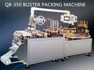 Qibo Design PVC-Papercard Packing Battery Blister Shape Package Machine with Disk Table pictures & photos