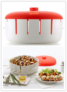 Plastic Silicone Steamer/Cook Two Dishes at The Same Time in Your Steamer pictures & photos