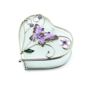 Luxury Wholesale Custom Glass Necklace Gift Jewelry Box (Hx-7254) pictures & photos