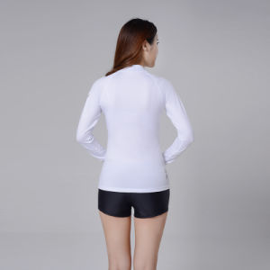 Quik-Dry Breathable Women Long Sleeve Lycra Fitness Yoga Clothes pictures & photos
