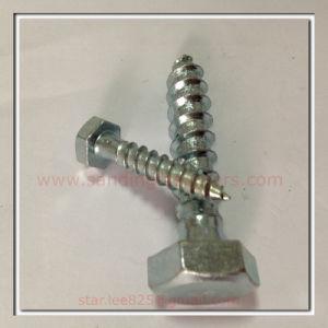 ASME B18.2.1 Carbon Steel Zinc Plated Hex Head Wood Screws pictures & photos