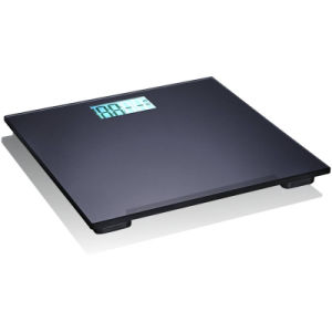 Bathroom Black Slim Glass Electronic Weight Scale pictures & photos