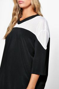Womens Color Block Baseball Tee of Oversized pictures & photos