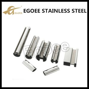 Ss 304 316 Mirror Polishing Stainless Steel Slot Tube for Handrail pictures & photos