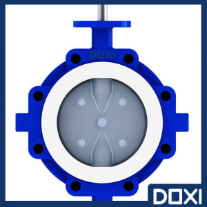 High Performance PFA/PTFE Lined Soft Seated Butterfly Valve pictures & photos