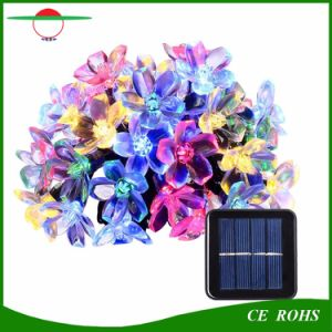 Solar String Lights, Multi Color Peach Flower Garden Solar Fairy Lights 50 LED Waterproof for Outdoor Patio Christmas Party Wedding Bedroom Decoration pictures & photos