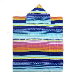 D-041 China Manufacture Striped Baby Bath Towel Hooded