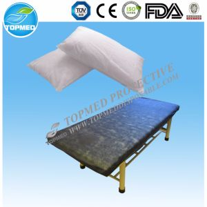 Nonwoven Disposable Bed Sheet with Elastic on Four Corner pictures & photos