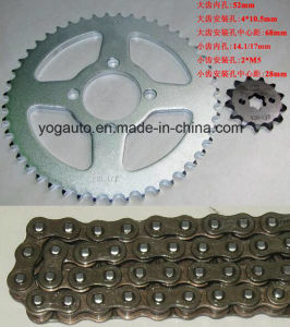 Motorcycle Chain Sprocket Set, Repuestos PARA Motocicletas, Kit De Transmision, Bajaj CT100 pictures & photos