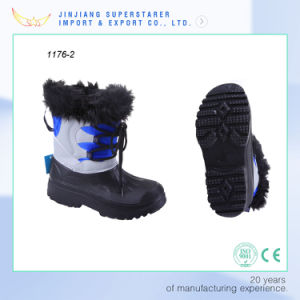 Winter Keep Warm Lace-up EVA Fur Boot for Men pictures & photos