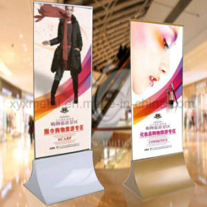 Advertising Exhibition Floor Metal Frame Display Rack Banner Poster Stand pictures & photos