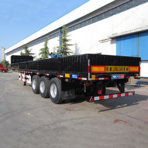 3axle Side Wall Flatbed Special Transport Vehicle Semi Trailer with High Quality pictures & photos