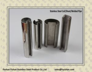 316 Wholesale Stainless Steel Single Slot Square Tube pictures & photos