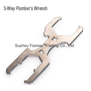Plumbing Tool 3-Way Plumber′s Wrench pictures & photos