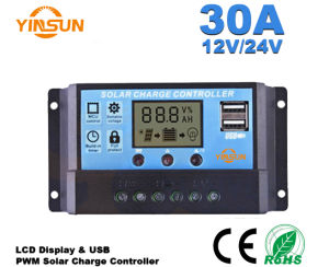20A 12V/24V PWM Solar Charge Controller, LCD Display Solar Panel Charge Battery pictures & photos