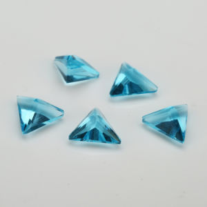 Trillion Blue Glass Stone Gemstone for Jewelry pictures & photos