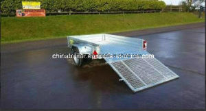 Hot Dipped Galv. Single Axle ATV Trailer with Tilt pictures & photos