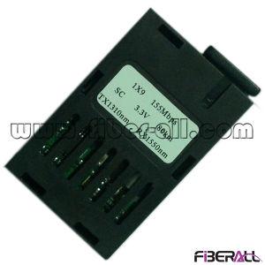 Bidi 1X9 Fiber Optical Module 155Mbps 80km Sc 3.3V pictures & photos