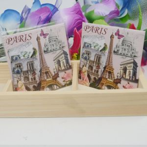 Promotional Gifts Paris Tourist Tin Fridge Magnets pictures & photos