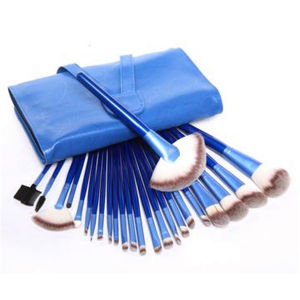 24PCS Blue Professional Makeup Brushes Set with Synthetic Hair pictures & photos