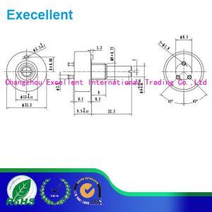 Wdj22 Conductive 360 Degree Plastic 10k Potentiometer pictures & photos