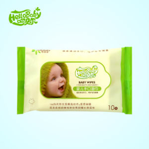 10 PCS Antiseptic Sensitive Vitamin Cotton Non-Woven Baby Wet Wipe pictures & photos