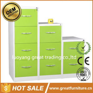 2/ 3/ 4/ Combination Display Stainless Steel Handle File Storage Metal Office Cabinet pictures & photos