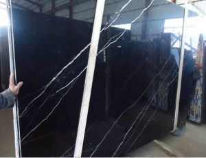 Chinese Black Marquina Marble Tiles pictures & photos
