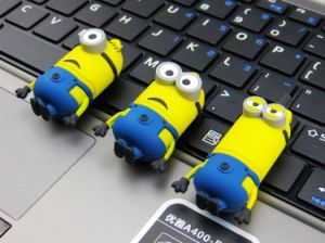Customized PVC/Silicone Cartoon Minion USB Flash Drive pictures & photos