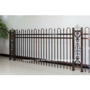 Haohan Customized Elegant Residential Industrial Decorative Galvanized Steel Fence 85 pictures & photos