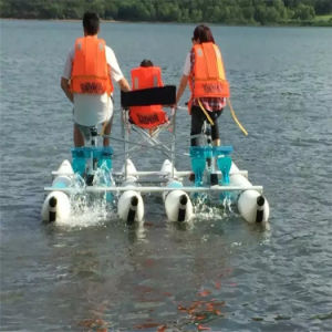 Price Aquatic Playing PVC Inflatable Pedal Bicycle Water Bike for Sale pictures & photos