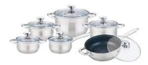 12 PCS Ordinary Straight Body Cookware Set pictures & photos