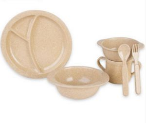 BPA Free Rice Husk Dinnerware Set for Kids (BC-CS1090) pictures & photos