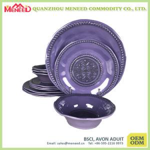 Elegant Design Ceramic-Like Melamine Western Dinnerware Set pictures & photos