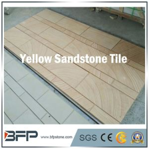 Sandstone Floor Tile Yellow Wood Vein Tiles for Resort Decoration pictures & photos