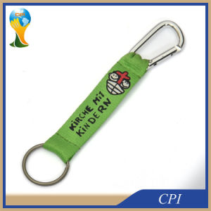 Short Polyester Screen Lanyard with Carabiner Hook pictures & photos