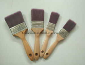 Different Colors High Quality Tapered Filament Paint Brush with Wooden Handle pictures & photos