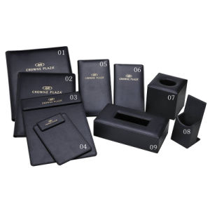 Durable PU Leather Products Hotel Leather Amenities From China pictures & photos