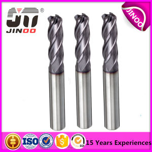 HRC 60 Carbide 4-Flutes Short-Flute Corner-Radius Carbide End Mill pictures & photos