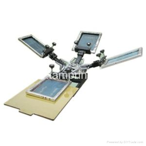 4 Color 1 Station Manual T-Shirt Silk Screen Printer pictures & photos