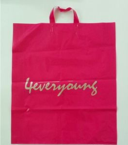 Newest Custom Sizes Tote Soft Loop Biodegradable Plastic Shopping Bag pictures & photos
