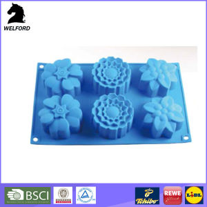 Non-Stick Assorted Flowers Silicone Cake Baking Tray