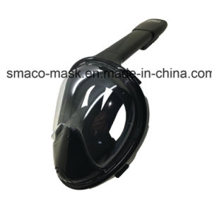 Anti Fog Red+Black Full Face Snorkel Diving Mask Dry Diving M2098g Ce RoHS FDA pictures & photos